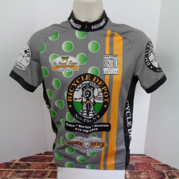 fdf083815b96e Bicycle Depot NY Cycling Jersey Mens L. M 5c605ef5c89e1d1297fa674a